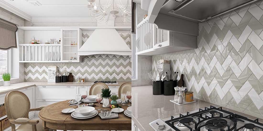 Kitchen Backsplash with Glass Tile