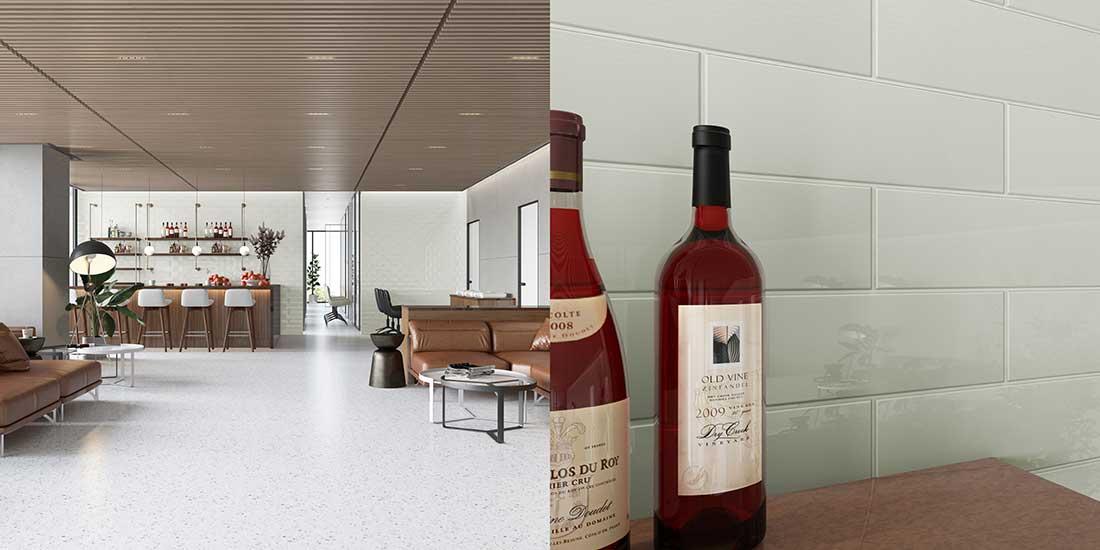 Wall Using Giorbello Tile